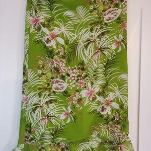 Vintage green floral midi skirt